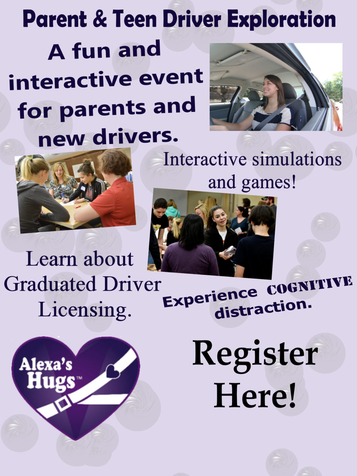 Register for teen driving events